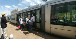 Teams evacuating woman from train to hospital Credit: Magen David Adom (MDA)