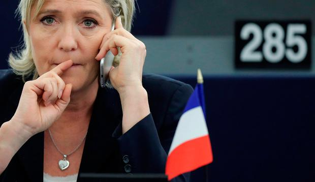 Marine Le Pen, French National Front (FN) political party leader