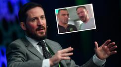 John Kavanagh and (inset) with Parr