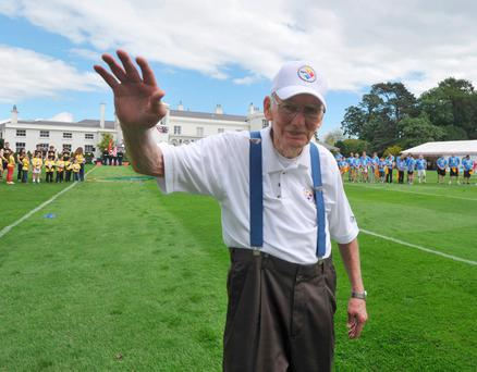 Dan Rooney at the July 4 celebrations at the US Embassy in the Phoenix Park in 2012 Photo: Damien Eagers
