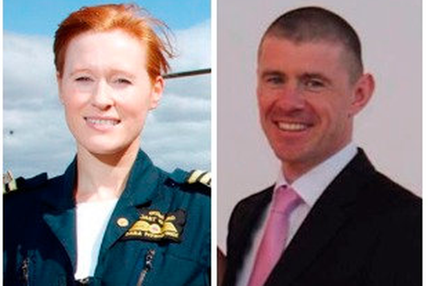 Two of the crew of Rescue 116: (left to right) Dara Fitzpatrick and Ciaran Smith