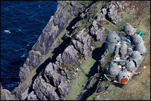 The set of the ancient Jedi Temple under construction at Ceann Sibeal in Co Kerry