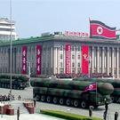 In this image made from video provided by North Korean broadcaster KRT, missiles are displayed during a parade at Kim Il Sung Square in Pyongyang, Saturday, April 15, 2017. (KRT via AP)