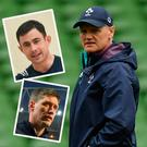 Joe Schmidt and (inset top) Felix Jones and (bottom) Ronan O'Gara