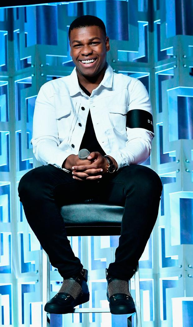 John Boyega attends the Star Wars Celebration day 02 on April 14, 2017 in Orlando, Florida. (Photo by Gustavo Caballero/Getty Images)