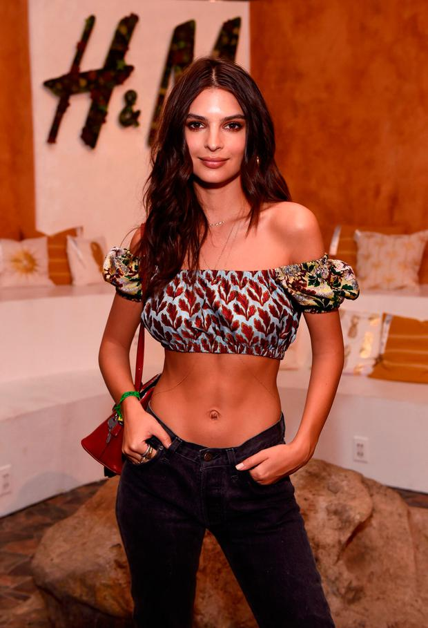 Emily Ratajkowski attends H&M Loves Coachella Tent during day 1 of the Coachella Valley Music & Arts Festival (Weekend 1) at the Empire Polo Club on April 14, 2017 in Indio, California. (Photo by Emma McIntyre/Getty Images for H&M)