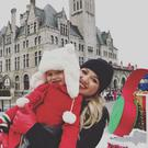 Kelly Clarkson and daughter River. Picture: Instagram