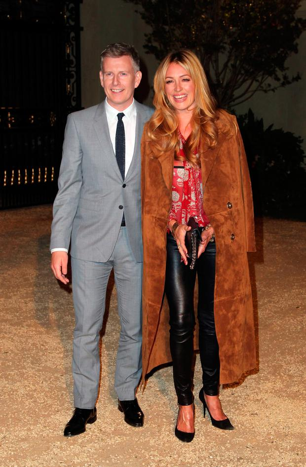 Comedian Patrick Kielty (L) and tv personality Cat Deeley attends the Burberry