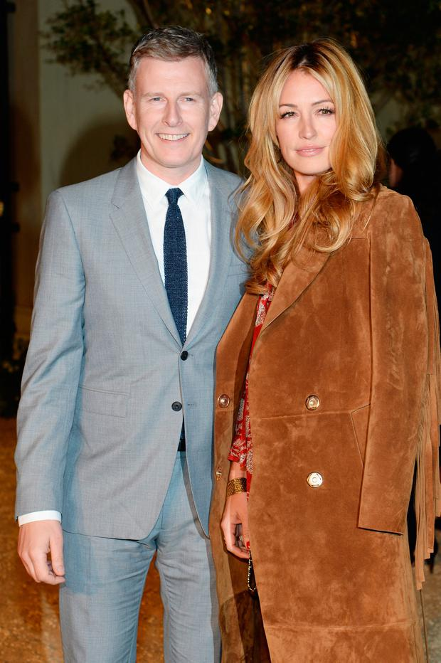 Comedian Patrick Kielty (L) and tv personality Cat Deeley attend the Burberry