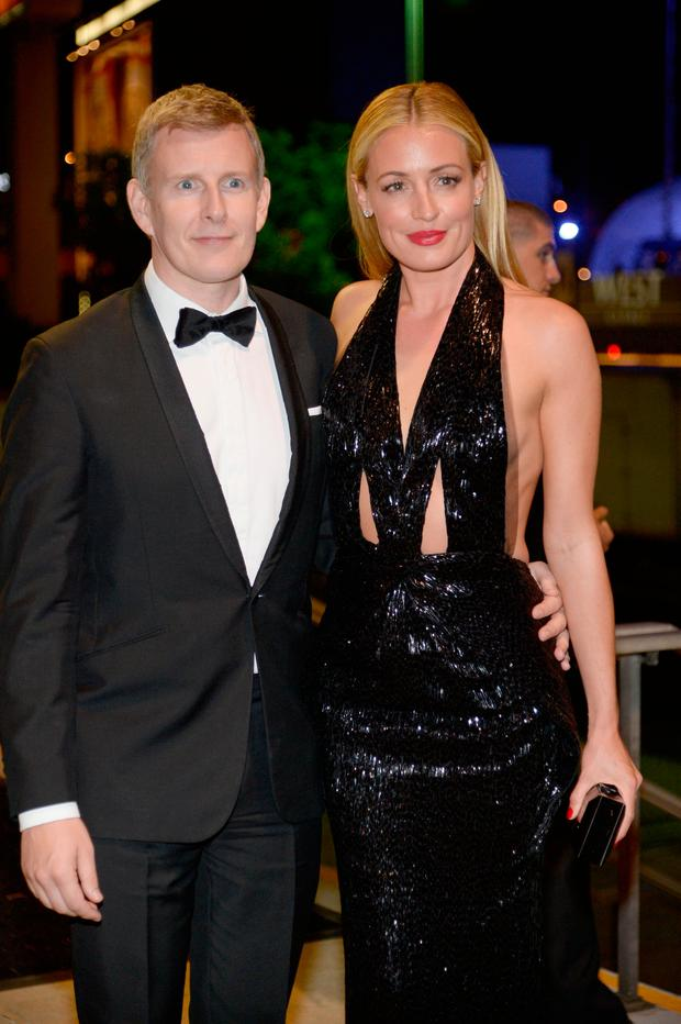 LOTV personality Cat Deeley (R) and husband Patrick Kielty attend the Governors Ball during the 65th Annual Primetime Emmy Awards at Nokia Theatre L.A. Live on September 22, 2013 in Los Angeles, California. (Photo by Kevork Djansezian/Getty Images)