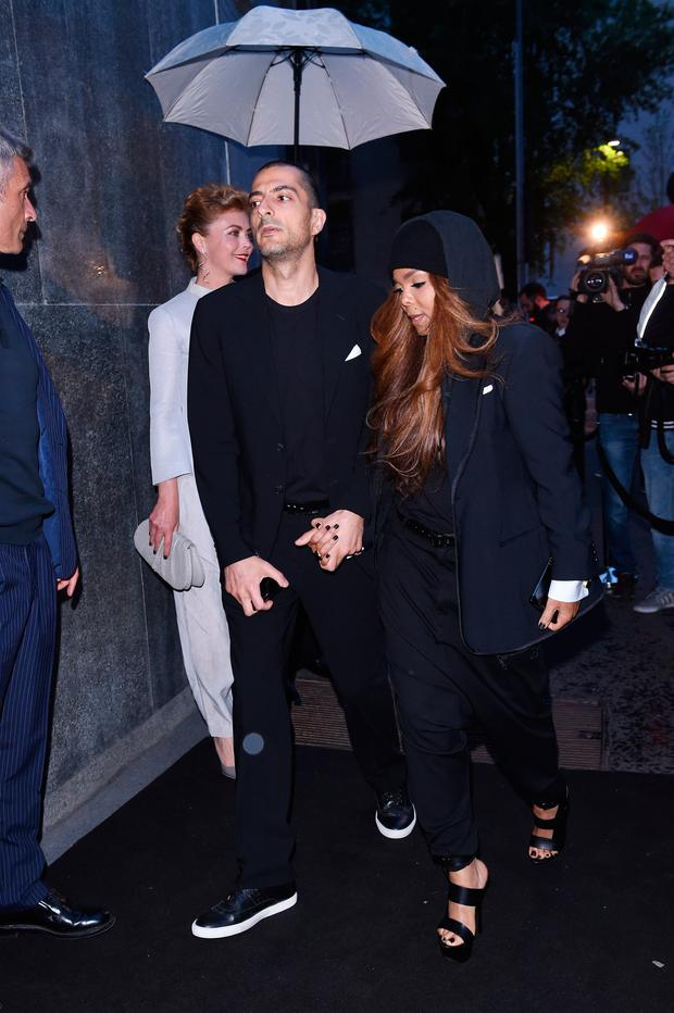 Wissam Al Mana and Janet Jackson attend the Giorgio Armani 40th Anniversary Dinner Reception at Nobu on April 29, 2015 in Milan, Italy. (Photo by Tullio M. Puglia/Getty Images for Giorgio Armani)
