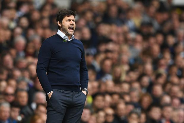 Mauricio Pochettino, Manager of Tottenham Hotspur reacts during the Premier League match between Tottenham Hotspur and AFC Bournemouth at White Hart Lane on April 15, 2017 in London, England. (Photo by Shaun Botterill/Getty Images)