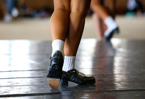 A competitor warms up at the World Irish Dancing Championships in Citywest, Dublin. Picture credit; Damien Eagers 15/4/2017