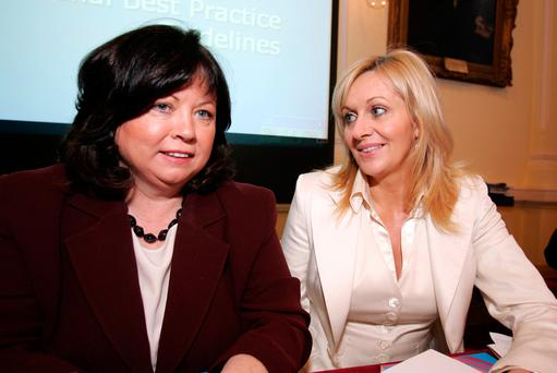 Former Enterprise Minister Mary Harney with Miriam O'Callaghan