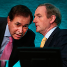 COMMENTS: Alan Shatter and Taoiseach Enda Kenny Picture: Steve Humphreys