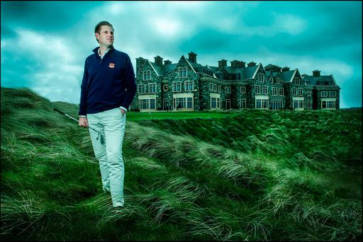 Eric at the west Clare course owned by the Trumps, which has just undergone a €4m transformation. Photo: David Conachy
