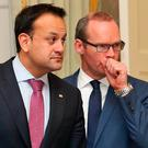 Leo Varadkar and Simon Coveney Photo: Collins Dublin.