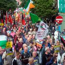 OUTCRY: Thousands of protesters took part in the anti-water charges rally in Dublin earlier this month Photo: Tony Gavin