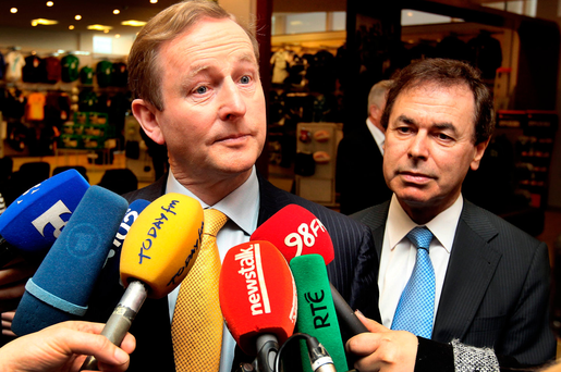 'THIS IS ABOUT THE FUTURE OF FINE GAEL AND THE FUTURE OF OUR COUNTRY': Alan Shatter, then Minister for Justice, with Taoiseach Enda Kenny. Photo: Steve Humphreys