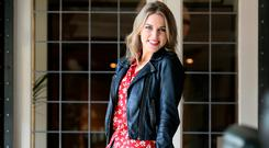 Amy Huberman for Weekend Magazine in the Westbury Hotel, Dublin. Picturet: Frank McGrath