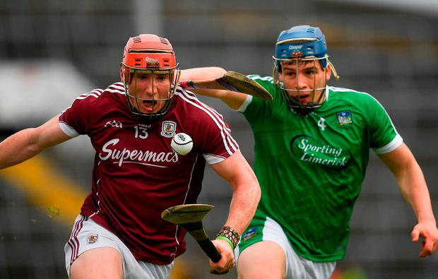 Galway's Conor Whelan in action against Limerick's Mike Casey. Photo: Ray McManus/Sportsfile