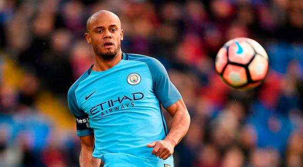 The injury problems of Vincent Kompany are less acute than King's horribly damaged left knee. Photo credit: Daniel Hambury/PA Wire