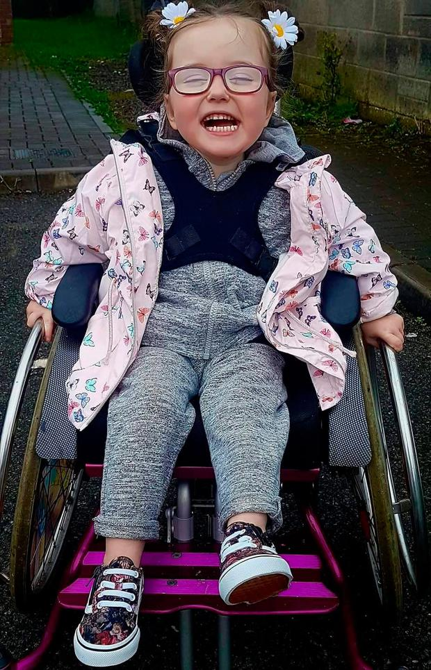 Shauna Walker's little girl Avannah has Quadriplegia Cerebral Palsy and requires a wheelchair