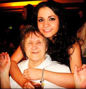 Amilia Stewart and her grandmother Mary Clarke. Picture: Amilia Stewart
