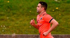 Conor Murray trained on his own yesterday as he continues his recovery from injury. Photo: DIARMUID GREENE/SPORTSFILE