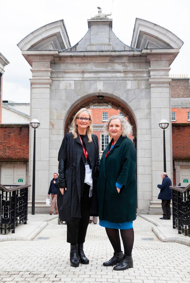 RTÉ boss Dee Forbes and Lorelei Harris Picture: Kinlan Photography
