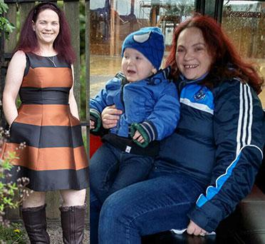 Mum of two children with special needs Valerie Donovan has lost 3 stone.