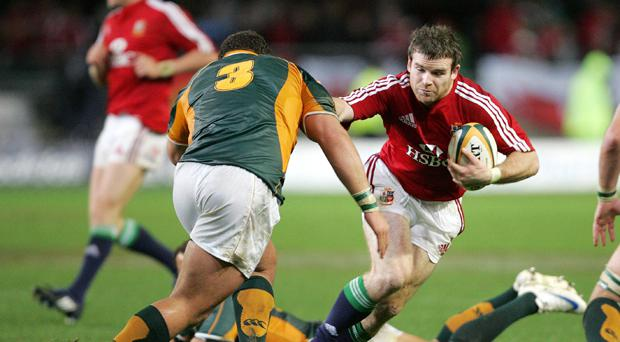 Gordon D'Arcy during the 2009 Lions Tour of South Africa