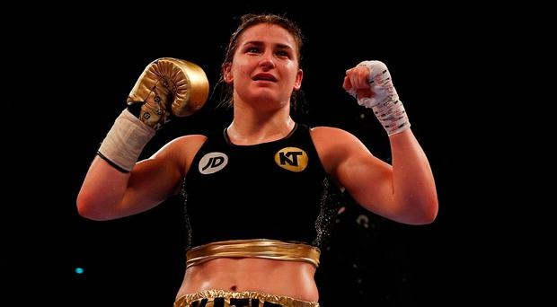 Katie Taylor will fight for her first pro title at London's Wembley Arena on April 29th. Photo: Lee Smith/Reuters