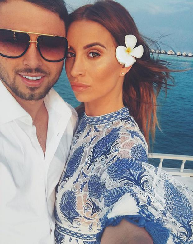 Ferne McCann and boyfriend Arthur Collins on holidays recently. Picture: Instagram