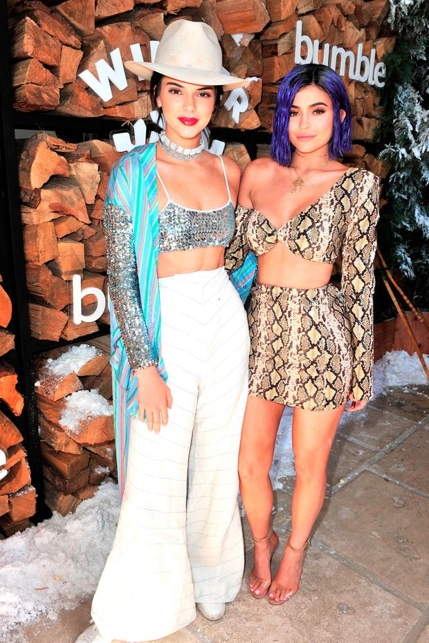 Kendall Jenner and Kylie Jenner attend Winter Bumbleland - Day 1 on April 15, 2017 in Rancho Mirage, California. (Photo by Jerod Harris/Getty Images for FVA Productions)