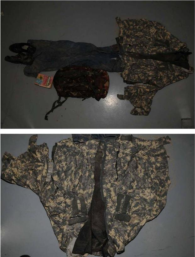 Clothing belonging to a man whose remains were found on Bray Beach on March 27 2017 (Image: Garda Press Office)
