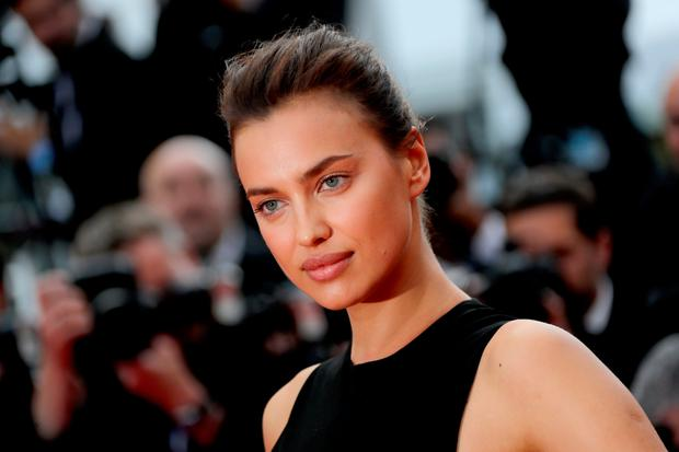 Russian model Irina Shayk poses as she arrives on May 18, 2016 for the screening of the film