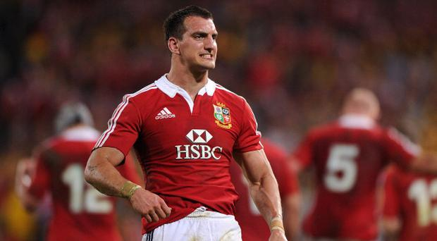 BRISBANE, AUSTRALIA - JUNE 22: Sam Warburton of the Lions grits his teeth during the First Test match between the Australian Wallabies and the British & Irish Lions at Suncorp Stadium on June 22, 2013 in Brisbane, Australia. (Photo by Matt Roberts/Getty Images for HSBC)