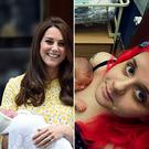 Rebecca Jane Hegarty with her son Noah. The mum suffered the same condition as Kate Middleton