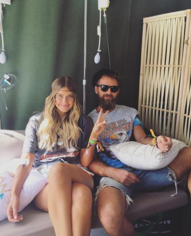 Australian influencer Elle Ferguson and her NFL star boyfriend Joel Pattful at the Hydration Clinic