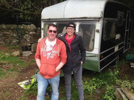 Dominic Lafferty has donated his caravan to the McCormack sisters