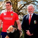 British & Irish Lions head coach Warren Gatland and captain Sam Warburton attended the dinner in London
