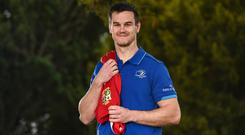 Jonathan Sexton who was today named in the 2017 British & Irish Lions squad that will tour New Zealand this summer at Leinster Rugby HQ in UCD today