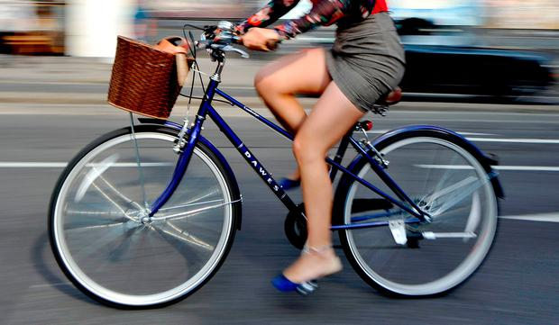 Cycling: high intensity. Stock picture