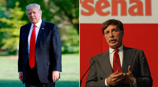 Donald Trump and (right) Stan Kroenke