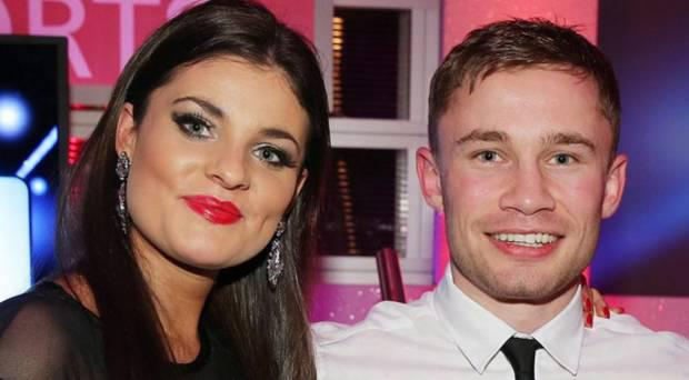 Carl Frampton and his wife Christine