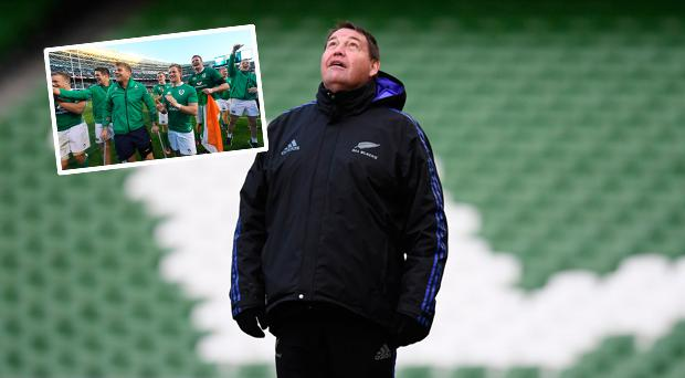 Steve Hansen has dismissed Gatland's claims that Ireland's Soldier Field win over the All Blacks will benefit the Lions