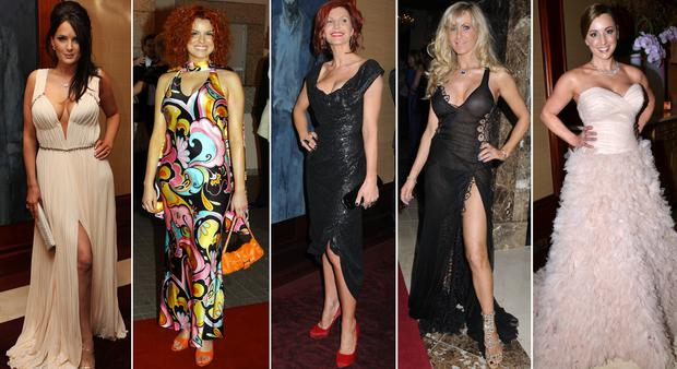 (L to R) Andrea Roche, Caroline Morahan, Yvonne Connolly, Lisa Murphy and Sinead Desmond at the VIP Style Awards through the years