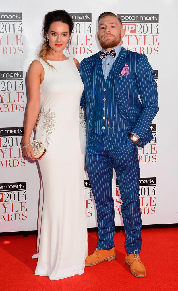 Dee Devlin and Conor McGregor at the VIP Style Awards 2014 at The Marker Hotel