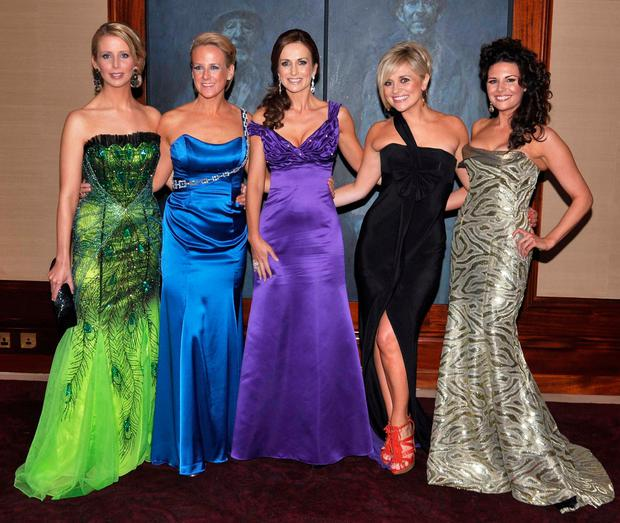 Aisling O'Loughlin, Sybil Mulcahy, Lorraine Keane, Karen Koster, Lisa Cannon at the VIP Style Awards 2009